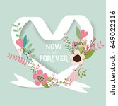 wedding invitation card design... | Shutterstock .eps vector #649022116