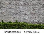 grey grunge brick wall... | Shutterstock . vector #649027312