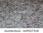 grey grunge brick wall... | Shutterstock . vector #649027318