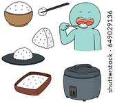 vector set of rice | Shutterstock .eps vector #649029136
