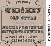 font script typeface vector.... | Shutterstock .eps vector #649029688