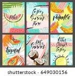 spring summer poster  banner in ...   Shutterstock .eps vector #649030156