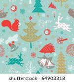 winter forest seamless pattern | Shutterstock .eps vector #64903318