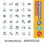 network icon set clean vector | Shutterstock .eps vector #649033762