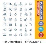science icon set clean vector | Shutterstock .eps vector #649033846