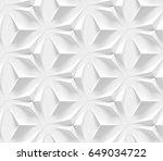white seamless geometric... | Shutterstock . vector #649034722