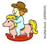 a little baby boy riding his... | Shutterstock .eps vector #64904191