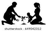 editable vector silhouette of... | Shutterstock .eps vector #649042312