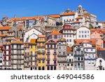 view of the porto city  portugal | Shutterstock . vector #649044586