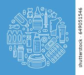 medical  drugstore poster... | Shutterstock .eps vector #649051546