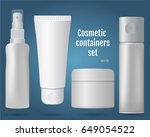 cosmetic containers set ...   Shutterstock .eps vector #649054522