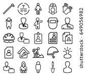 worker icons set. set of 25... | Shutterstock .eps vector #649056982