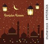 ramadan kareem background... | Shutterstock .eps vector #649058266