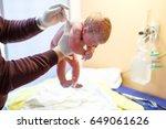 newborn child seconds and... | Shutterstock . vector #649061626