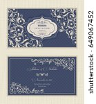 wedding invitation cards... | Shutterstock .eps vector #649067452
