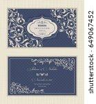 wedding invitation cards... | Shutterstock .eps vector #649067452