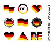 germany flag illustration ... | Shutterstock .eps vector #649068136