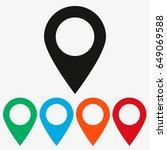 location icon vector flat... | Shutterstock .eps vector #649069588