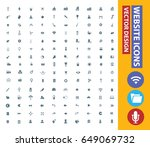 website icon set clean vector | Shutterstock .eps vector #649069732