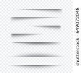 transparent black oblong shadow.... | Shutterstock .eps vector #649072048