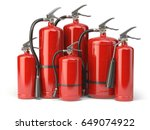 fire extinguishers isolated on... | Shutterstock . vector #649074922