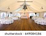 banquet hall decorated for...   Shutterstock . vector #649084186