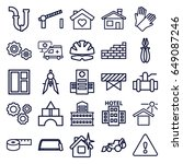 construction icons set. set of... | Shutterstock .eps vector #649087246