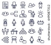 manager icons set. set of 25... | Shutterstock .eps vector #649087312