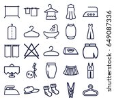 cloth icons set. set of 25... | Shutterstock .eps vector #649087336