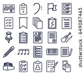 note icons set. set of 25 note... | Shutterstock .eps vector #649087465