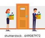 concept of new job  hiring and... | Shutterstock .eps vector #649087972