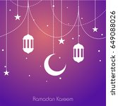 islamic holy month  ramadan... | Shutterstock .eps vector #649088026
