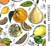 decorative seamless pattern... | Shutterstock .eps vector #649091182