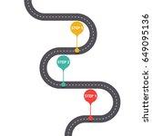 infographic template. winding... | Shutterstock .eps vector #649095136