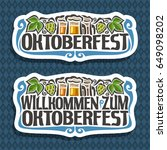 vector logo for oktoberfest on... | Shutterstock .eps vector #649098202