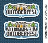 vector logo for oktoberfest on... | Shutterstock .eps vector #649098202