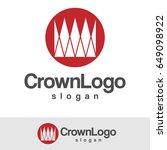 crown logo | Shutterstock .eps vector #649098922