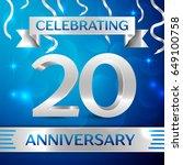 twenty years anniversary...   Shutterstock .eps vector #649100758