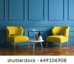 interior modern design room 3d... | Shutterstock . vector #649106908