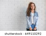 beautiful young african...   Shutterstock . vector #649110292