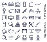 table icons set. set of 36... | Shutterstock .eps vector #649112506