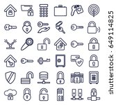 lock icons set. set of 36 lock...   Shutterstock .eps vector #649114825