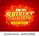 new summer collections vector... | Shutterstock .eps vector #649114906