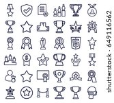 award icons set. set of 36... | Shutterstock .eps vector #649116562
