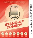 stand up comedy show poster... | Shutterstock .eps vector #649117102