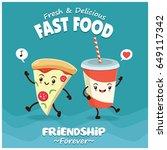 vintage food poster design with ... | Shutterstock .eps vector #649117342