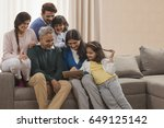 portrait happy multi generation ... | Shutterstock . vector #649125142