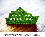 ecology ship concept. 3d... | Shutterstock . vector #649126822