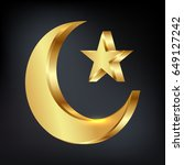 ramadan kareem greeting with... | Shutterstock .eps vector #649127242