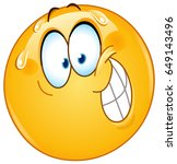 emoticon with nervous smile   Shutterstock .eps vector #649143496
